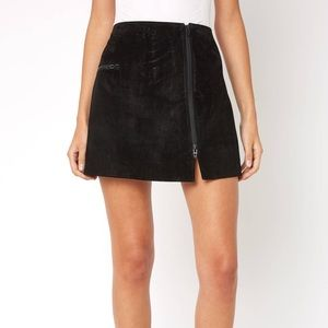 Black suede Blank NYC skirt